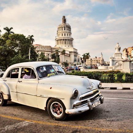 Cuba, La Habana, Capitolio, Paseo de Martí (Prado)